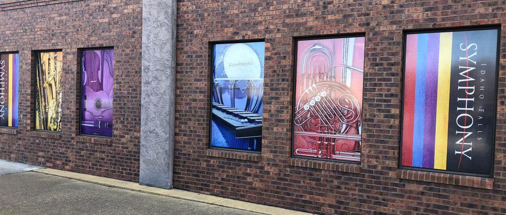 IF Symphony exterior window graphics